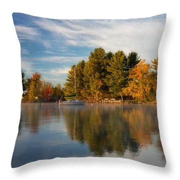 Reflections On Long Lake Throw Pillow