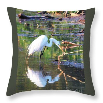 Reflections On Wildwood Lake Throw Pillow