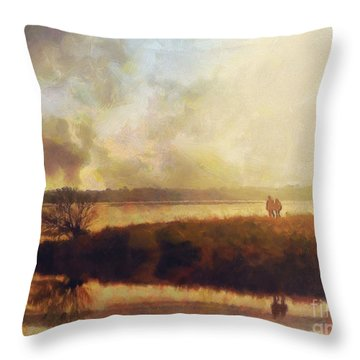 Reflections Throw Pillow by Pixel Chimp