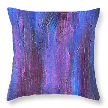 Throw Pillow featuring the painting Reflections by Roz Abellera Art