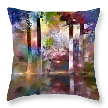 Reflections Throw Pillow by Ursula Freer
