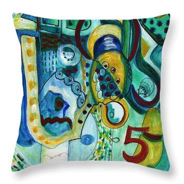 Reflective #5 Throw Pillow