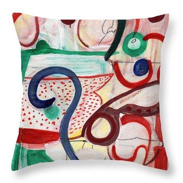 Reflective #6 Throw Pillow