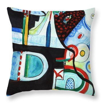 Reflective #7 Throw Pillow