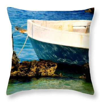 Reflective Bow Throw Pillow by Karen Wiles