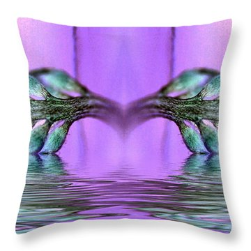 Reflective Consciousness Throw Pillow by WB Johnston