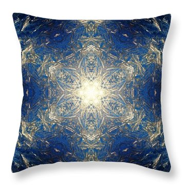 Reflective Ice I Throw Pillow by Derek Gedney