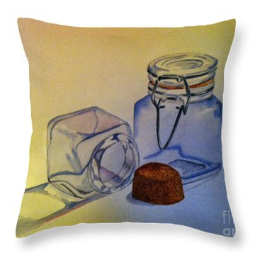 Reflective Still Life Jars Throw Pillow by Brenda Brown