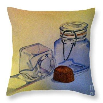 Reflective Still Life Jars Throw Pillow