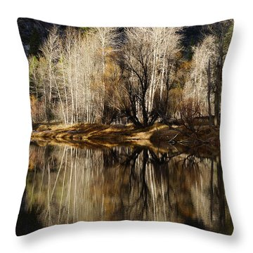 Reflex Of Trees Throw Pillow