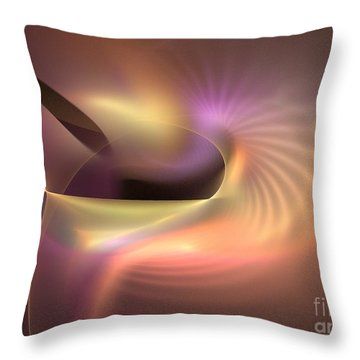 Refraction Throw Pillow by Kim Sy Ok