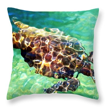 Throw Pillow featuring the photograph Refractions - Nature's Abstract by David Lawson
