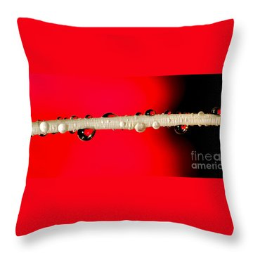 Refractions Of A Red Rose Throw Pillow by Kaye Menner