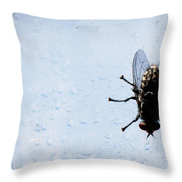 #refreshing Throw Pillow by Becky Furgason