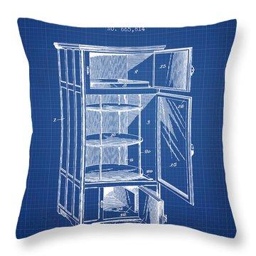 Refrigerator Patent From 1901 - Blueprint Throw Pillow