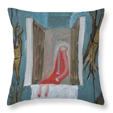 Refrigerator Rock And The King Throw Pillow by Nancy Mauerman
