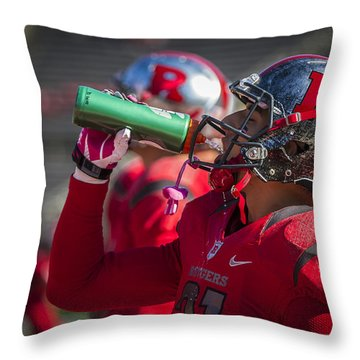 Refueling Throw Pillow by Eduard Moldoveanu