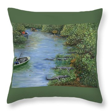 Throw Pillow featuring the painting Refuge? by Karen Zuk Rosenblatt
