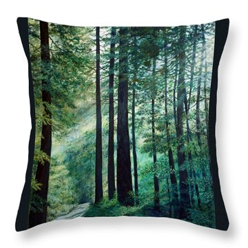 Throw Pillow featuring the painting Refuge by Kathleen McDermott