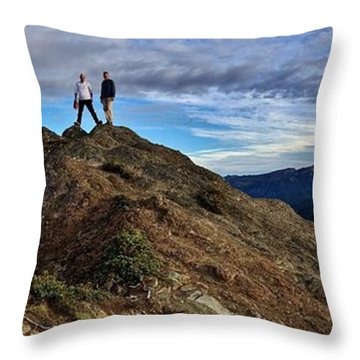 Throw Pillow featuring the photograph Reg 1 by Benjamin Yeager