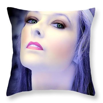 Throw Pillow featuring the photograph Regal by Jon Volden