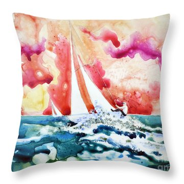 Regatta Throw Pillow