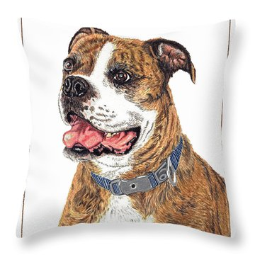 Throw Pillow featuring the painting Reggie by Val Miller