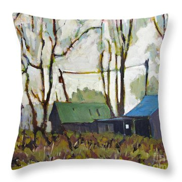 Reggies Place Throw Pillow by Charlie Spear
