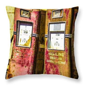 Throw Pillow featuring the photograph Regular Gasoline by Steven Bateson