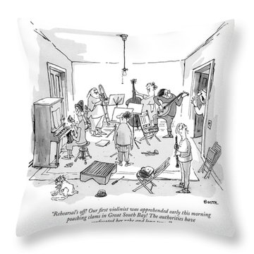 Rehearsal's Off! Our ?rst Violinist Throw Pillow