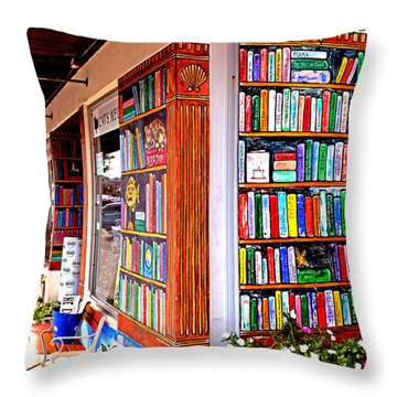 Rehoboth Beach Browseabout Books Throw Pillow