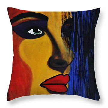 Throw Pillow featuring the painting Reign Over Me 2 by Michael Cross