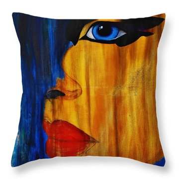 Throw Pillow featuring the painting Reign Over Me 3 by Michael Cross