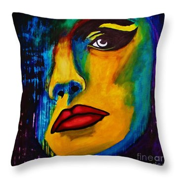 Throw Pillow featuring the painting Reign Over Me by Michael Cross
