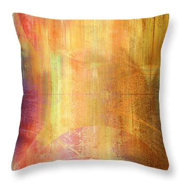 Reigning Light - Abstract Art Throw Pillow