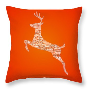 Reindeer Throw Pillow by Aged Pixel