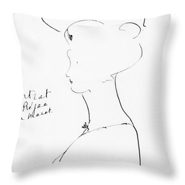 Rejane Throw Pillow by Marcel Proust