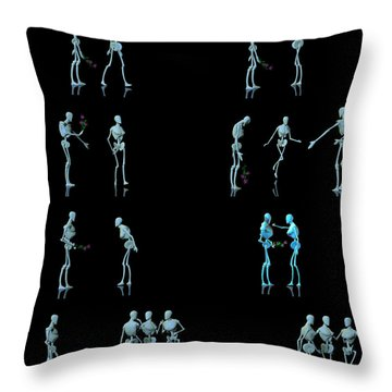 Rejected Robot... Throw Pillow