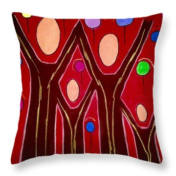 Rejoice As One Throw Pillow by Chrissy  Pena