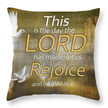 Rejoice Throw Pillow by Davina Washington