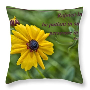 Rejoice In Hope Throw Pillow
