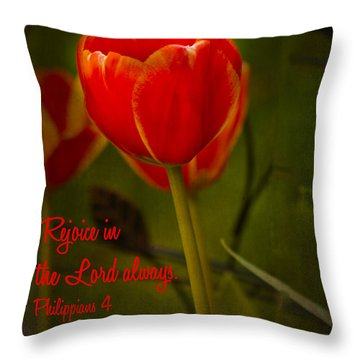 Rejoice In The Lord Throw Pillow by Bill Barber