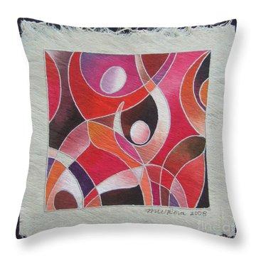 Reki IIi - Dance For Joy Throw Pillow