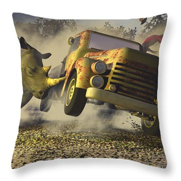 Relative Mass Throw Pillow