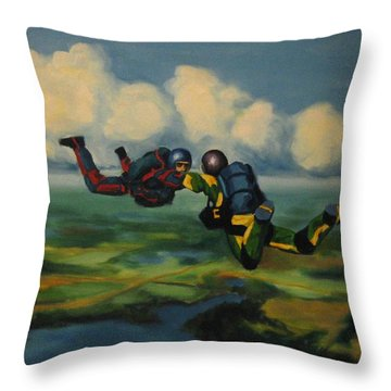 Relative Work Throw Pillow by John Malone