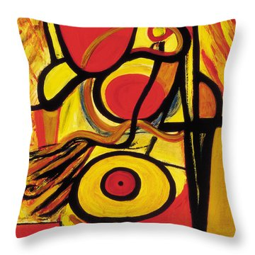 Throw Pillow featuring the painting Relativity 2 by Stephen Lucas