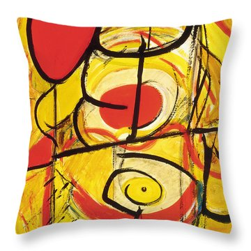 Throw Pillow featuring the painting Relativity 3 by Stephen Lucas