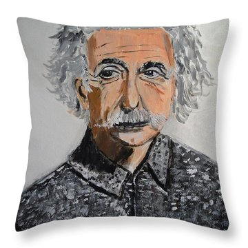 Throw Pillow featuring the painting Relativity by Judy Kay