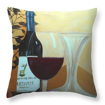Relax And Enjoy Throw Pillow by June Holwell