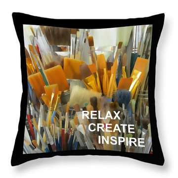 Relax Create Inspire Throw Pillow
